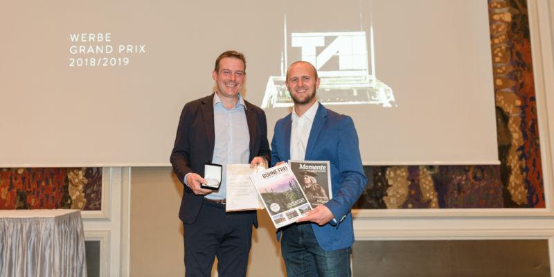 Das Gästemagazin MOMENTE für das Kufsteinerland zählt neben dem BÜHNE FREI zu den weiteren Preisträgern.