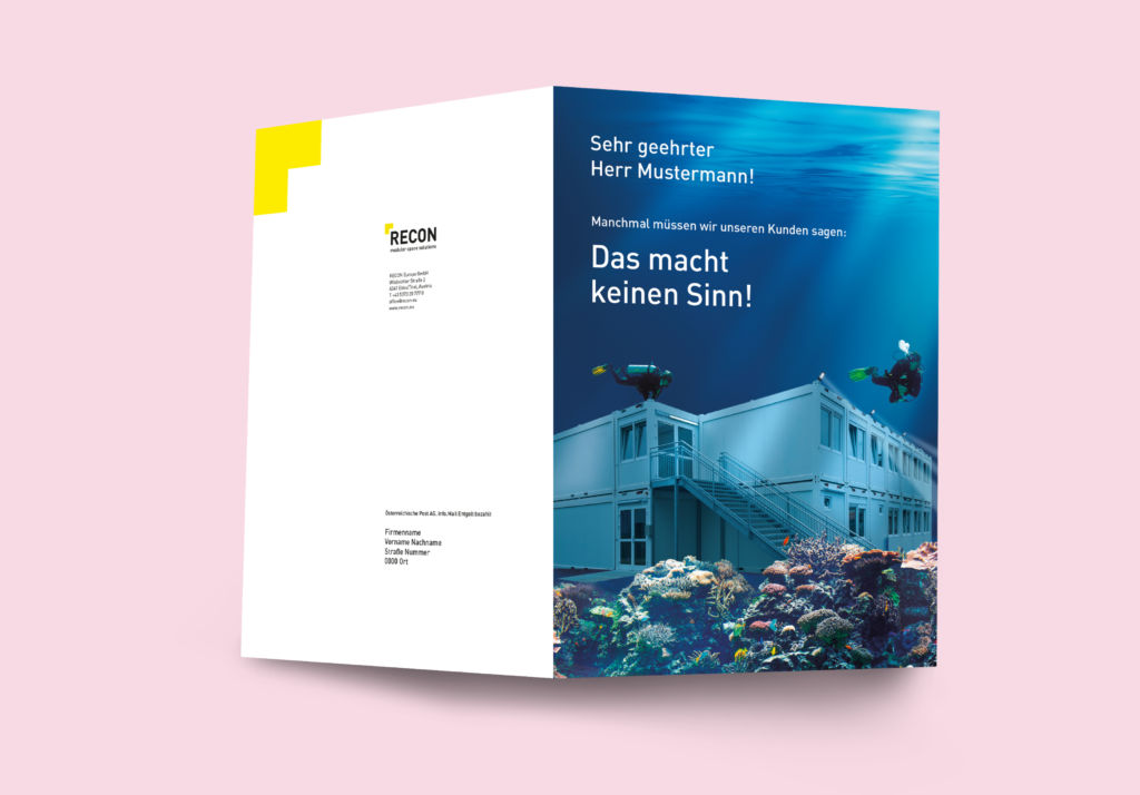Direct Mailing Kreativkampagne RECON