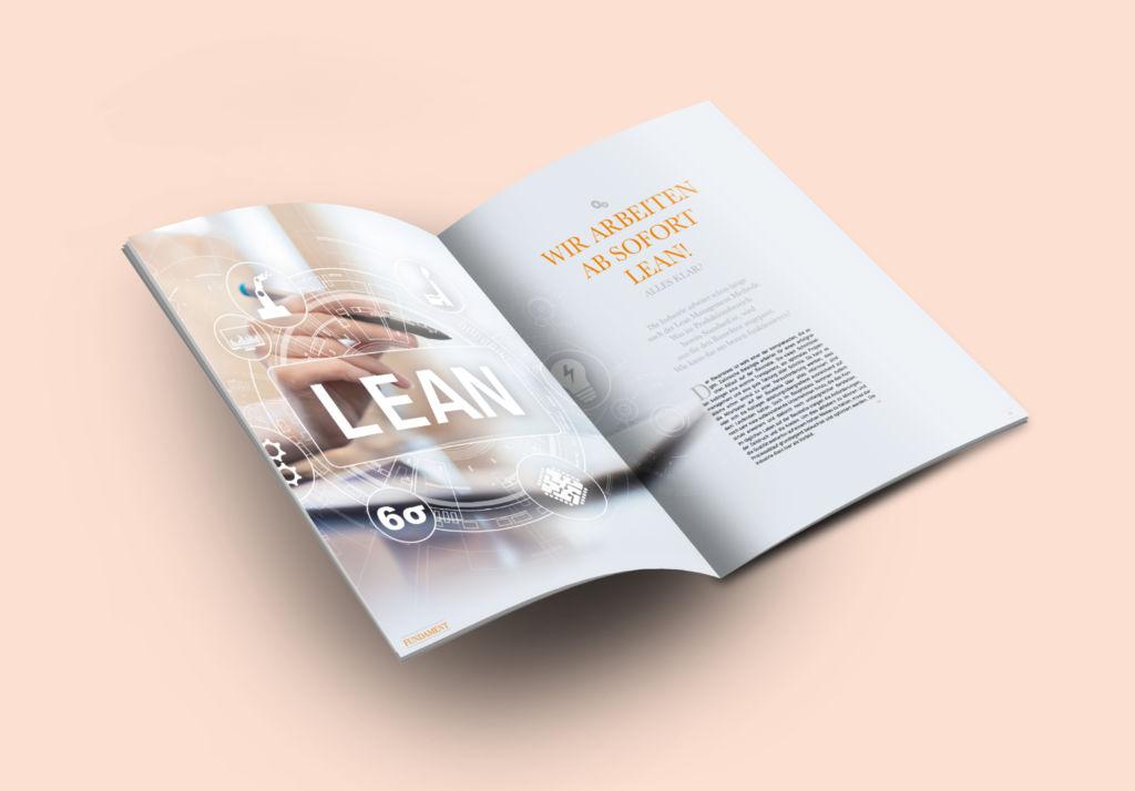 Kundenzeitschrift Fundament RIEDERBAU