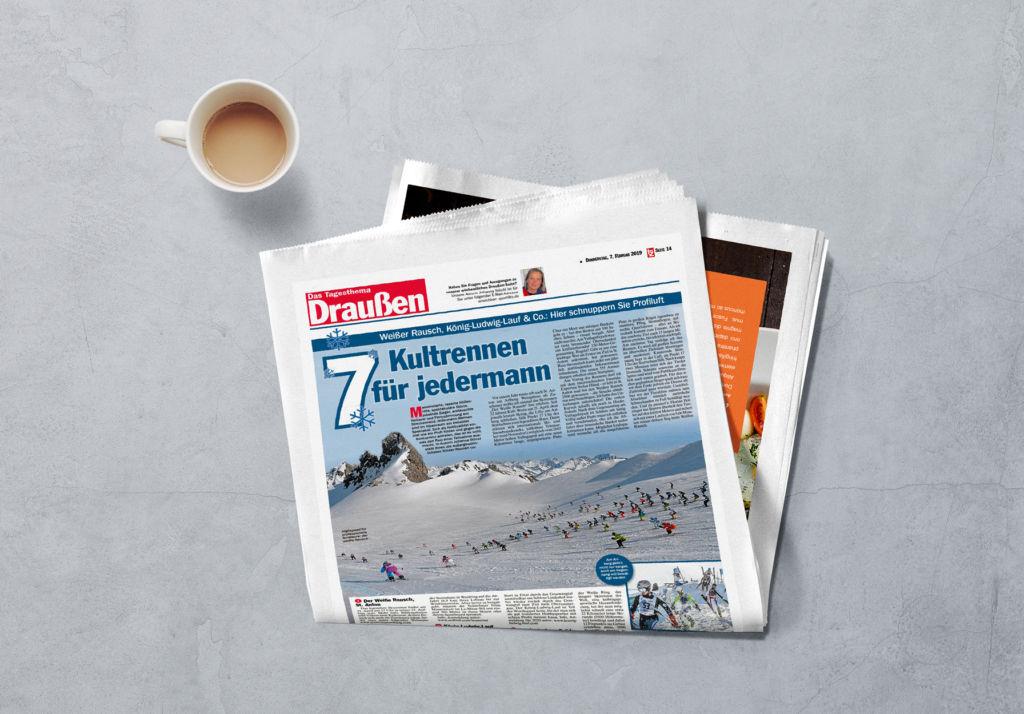 """Medienarbeit """"Der weisse Rausch"""" St. Anton am Arlberg"""