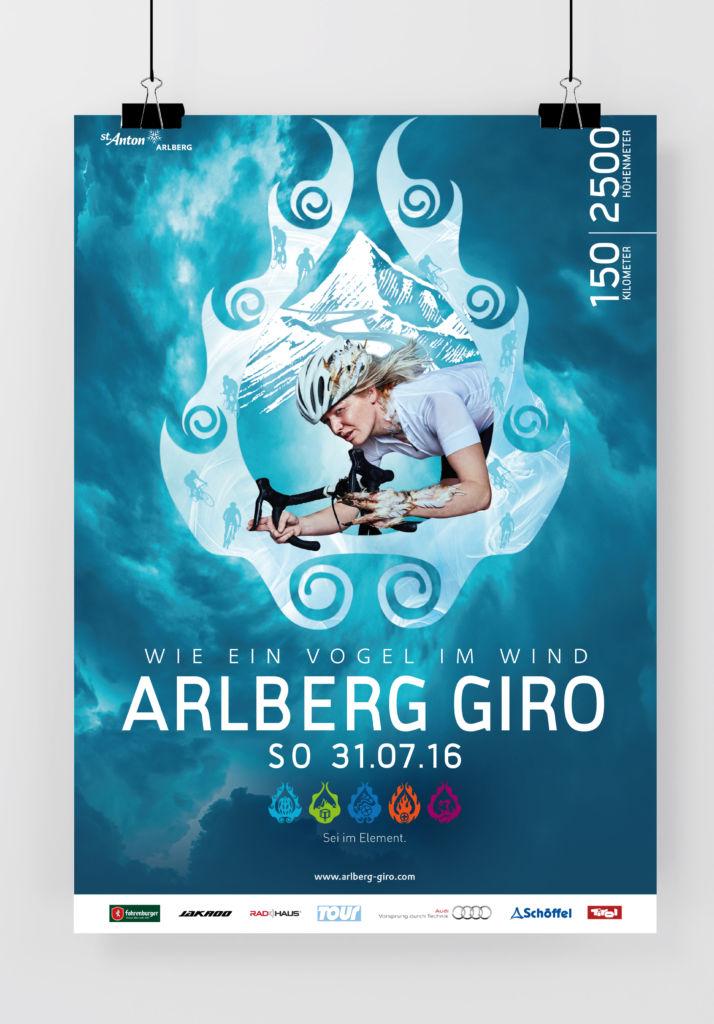 Plakat ARLBERG Giro 2016