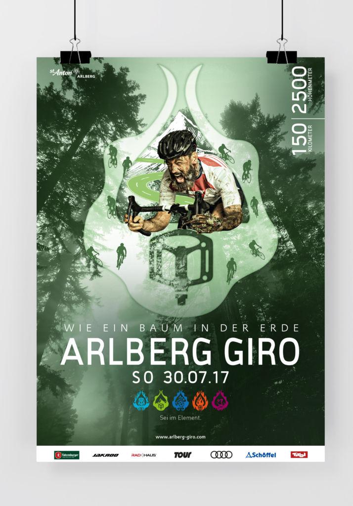 Plakat ARLBERG Giro 2017