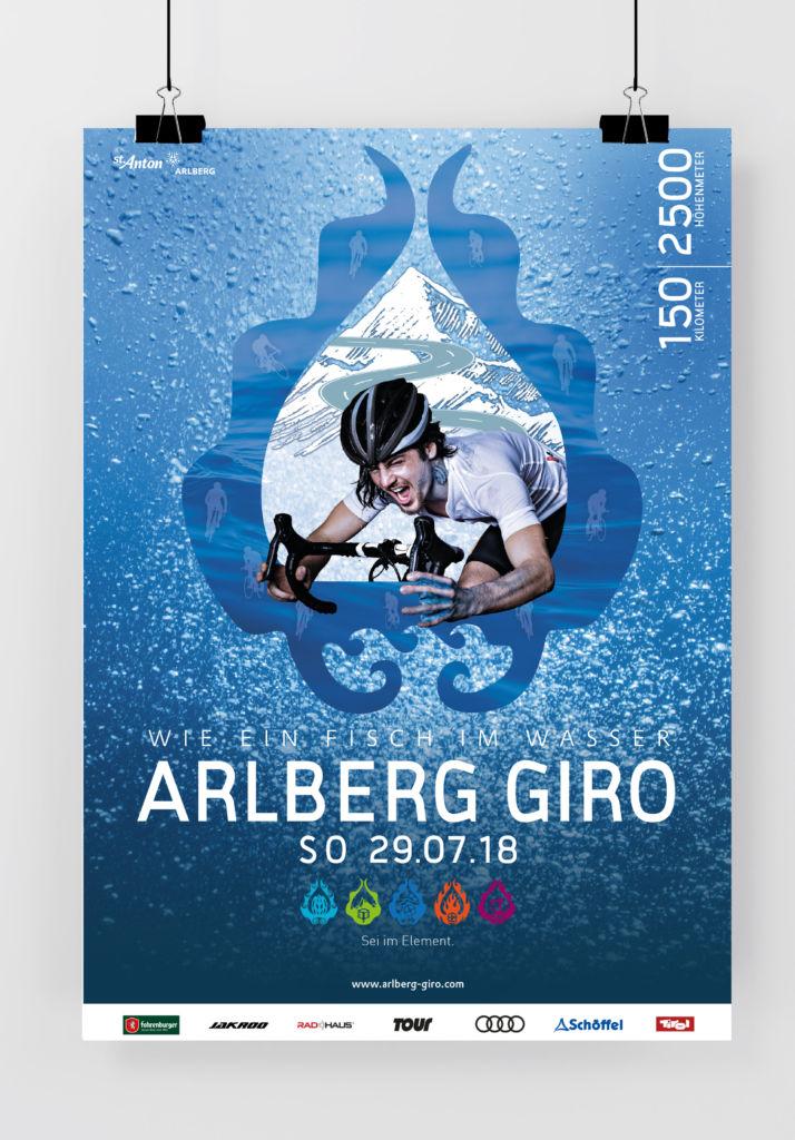 Plakat ARLBERG Giro 2018