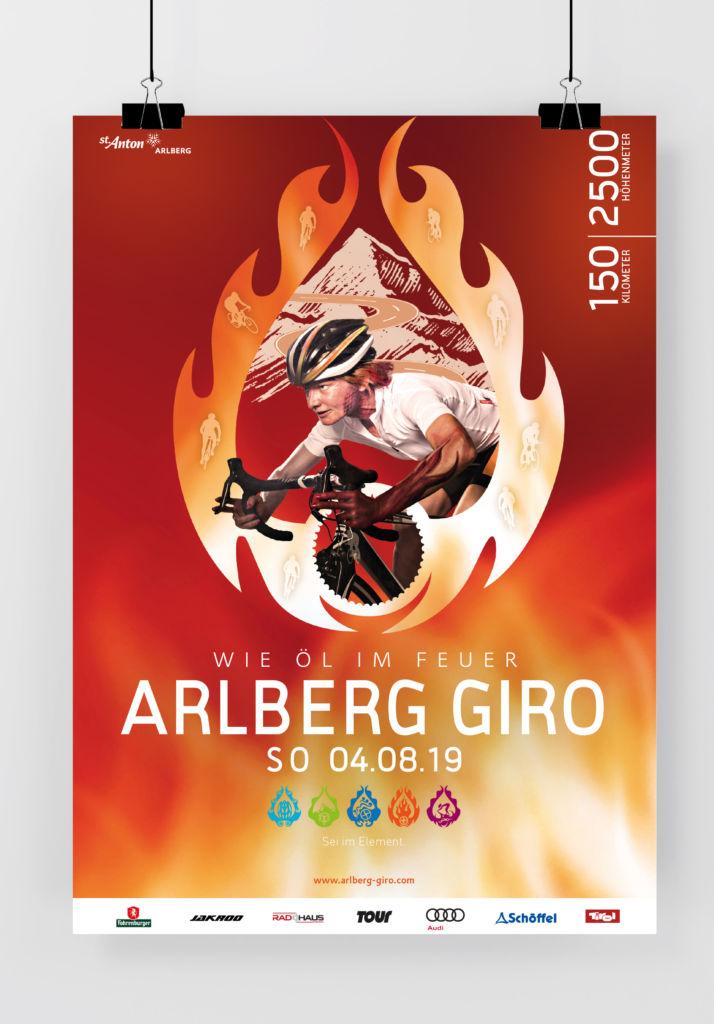 Plakat ARLBERG Giro 2019