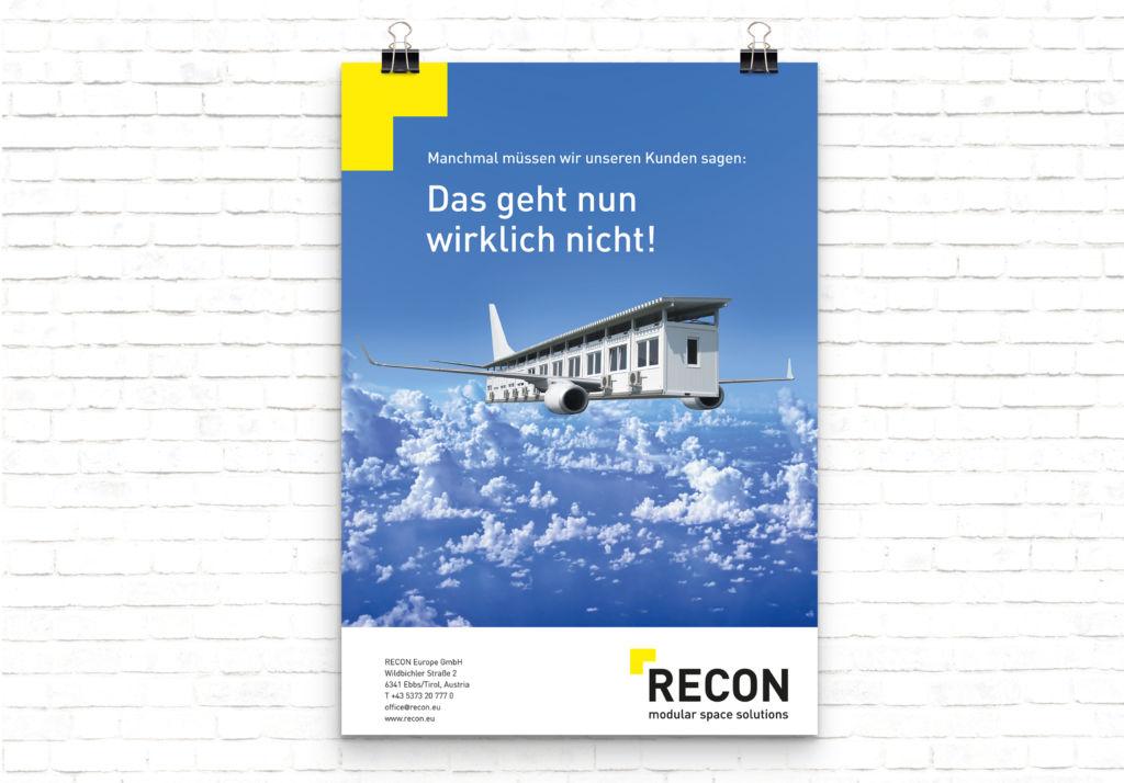 Sujet Kreativkampagne RECON