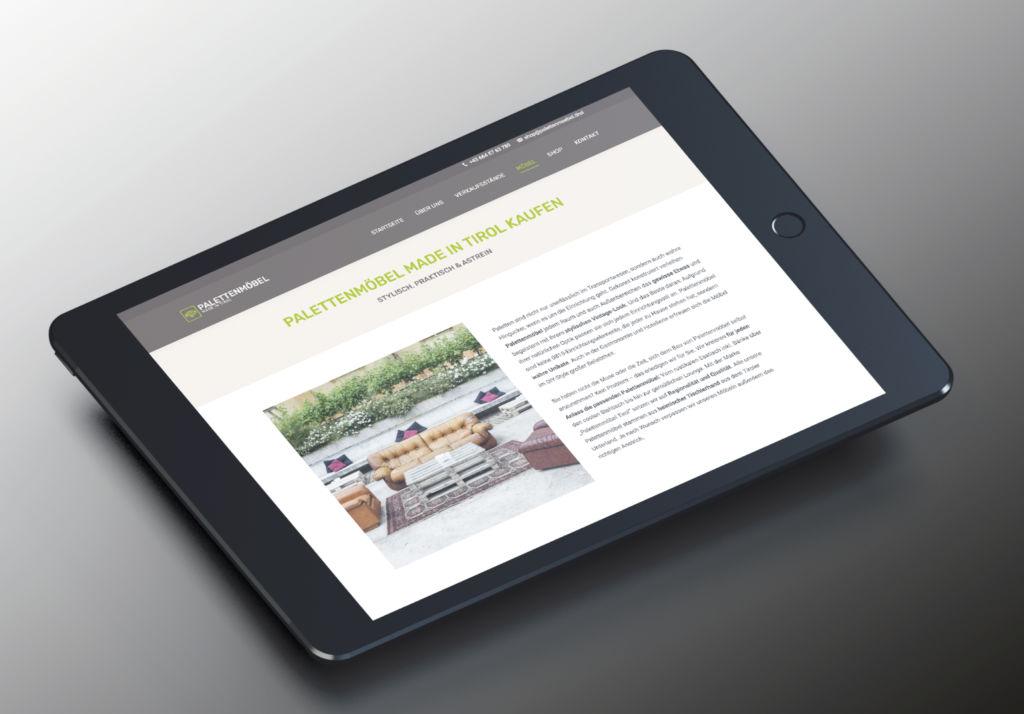 Neue Website Palettenmöbel Tirol