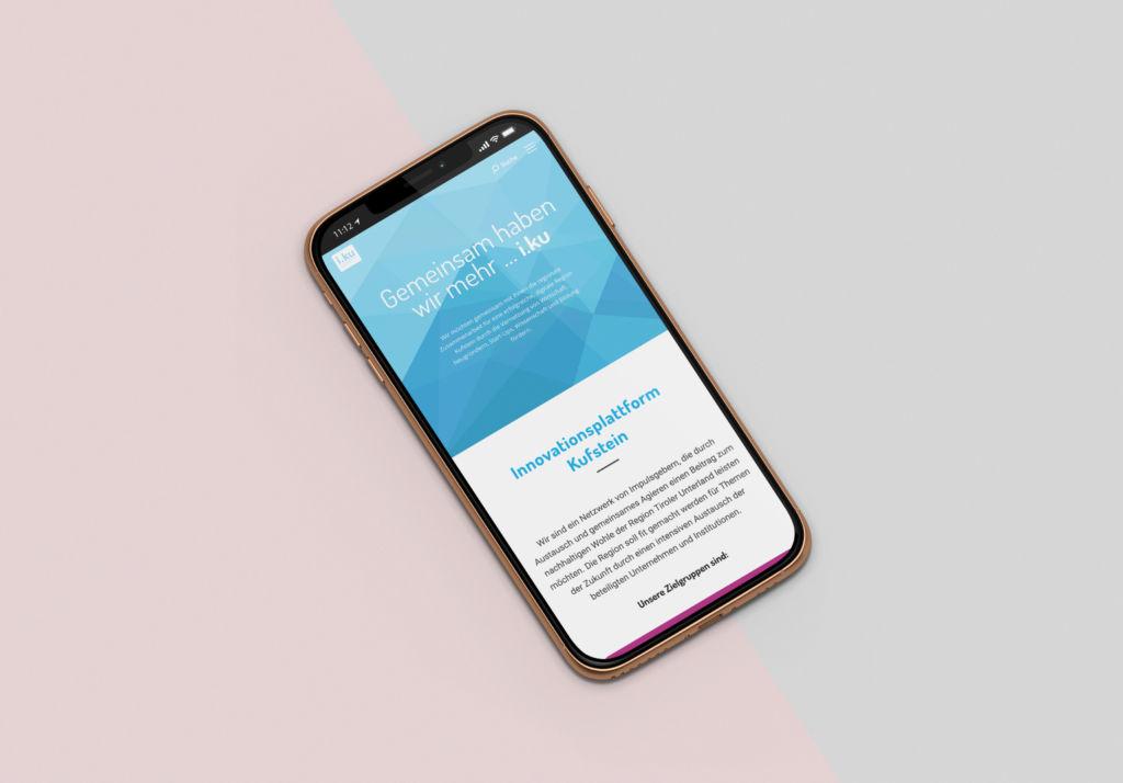 Mobile Ansicht Website i.ku