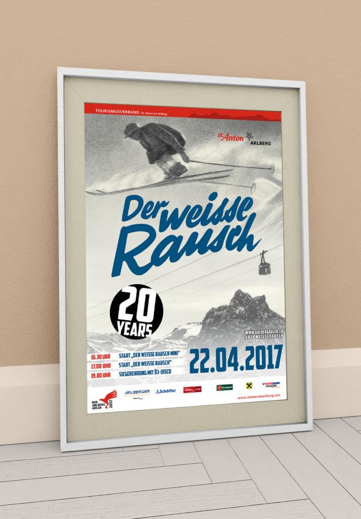 """Plakat """"Der weisse Rausch"""" St. Anton am Arlberg"""