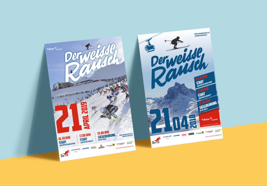 """Plakate """"Der weisse Rausch"""" St. Anton am Arlberg"""