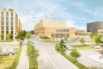 Auf 40.000 m2 errichtet die Unterberger Gruppe in Zusammenarbeit mit den ATP Architekten das Kaiserreich Kiefersfelden.