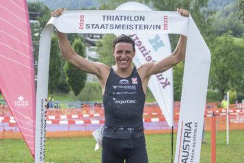 Der Salzburger Lukas Hollaus holte sich den Staatsmeistertitel über die Olympische Distanz.