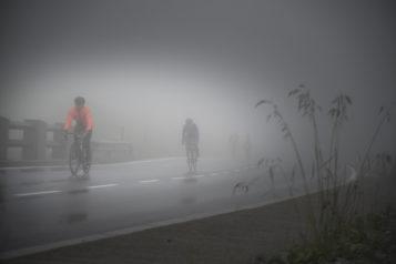 Nebel, Regen und Kälte galt es in Kauf zu nehmen.