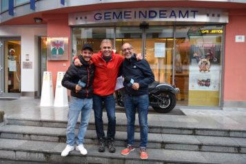 Markus Ehrensperger, Martin Ebster (Direktor TVB St. Anton am Arlberg) und Martin Böckle führten durch den Tag (v.l.n.r.).