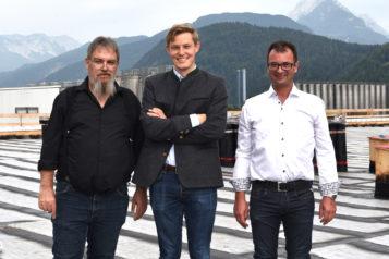 Auf dem Bild v.l.n.r.: Stefan Hundsbichler, Florian Unterberger und Karl Farthofer.