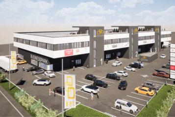 Auf insgesamt 6.000 m2 entstehen im Businesspark Langkampfen moderne Büro- und Gewerbeflächen in verkehrsgünstiger Lage.